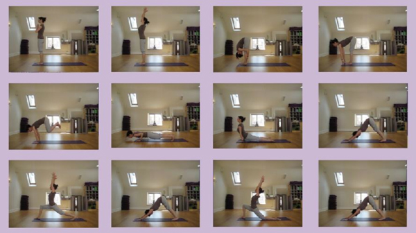 Sequence of yoga positions